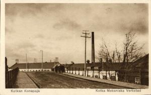 finland suomi, KOTKA Mekaniska Verkstad, Kotkan Konepaja  (1920s) Postcard