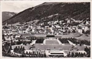 Switzerland Davos-Platz mit Kurpark 1955 Photo