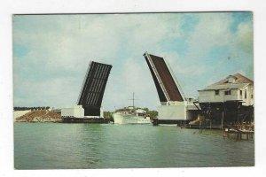 1960's Jawfish Creek Bridge, Overseas Highway, Key West, Florida Chrome Postcard