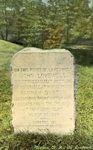 NH - Nashua. Old Landmark for John Lovewell House