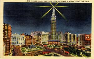 OH - Cleveland. Public Square and Union Terminal Tower