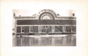 B50/ New Richmond Ohio Postcard Real Photo RPPC c1930s Springer House Flood