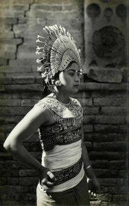 indonesia, BALI, Native Girl Djanger Dancer (1940s) RPPC Postcard