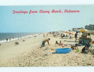 Unused Pre-1980 GREETINGS FROM BEACH Dewey Beach Delaware DE M6797@