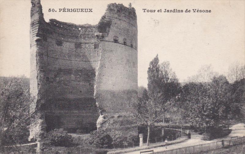 PERIGUEUX, Dordogne, France, 1900-1910's; Tour Et Jardins De Vesone