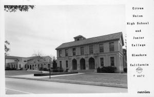 1940s Glendora California Citrus High School Junior College RPPC Frasher 9541