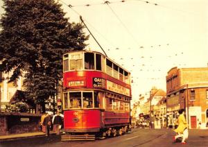 Postcard Class EH Tramcar at Erith Church, July 1952 Reproduction Card #966