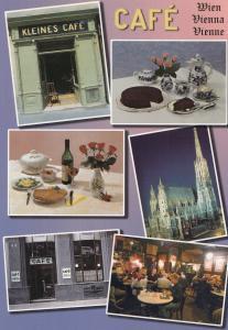 Kleines Street Cafe Wien Austria Postcard
