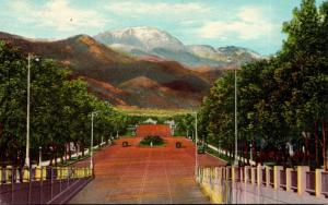 Colorado Colorado Springs Pikes Peak From Platte Avenue