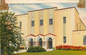 Camp Robinson Arkansas~US Army~Lloyd England Hall~3 Arched Doorways 1940 Linen