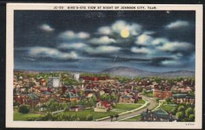 Tennessee colour PC Birds-Eye Night View  Johnson City unused