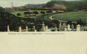 china, HONG KONG, Buildings Factories Happy Valley Race Course (1910s) Postcard