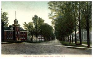 New York  Holley  High School and street view