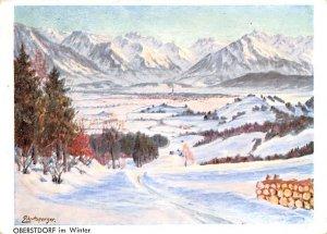 Im Winter Oberstdorf Germany 1957