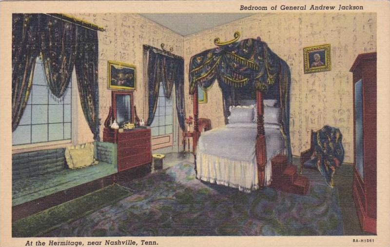 General Andrew Jackson´s Home, Bedroom At The Hermitage, Nashville, Tennesse...