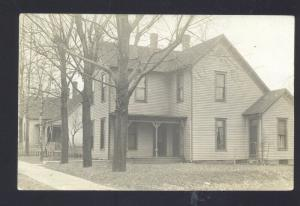 RPPC BRAZIL INDIANA RESIDENCE HOUSE ZIONSVILLE IND. VINTAGE REAL PHOTO POSTCARD
