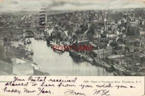 pre-1907 HEAD OF PROVIDENCE RIVER, Providence< R. I. 1908