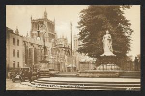 Bristol Cathedral Queen Victoria Statue UK unused c1920's