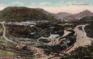 A View of PANAMA, Looking South from top of Contractor Hill in 1885, 1900-10s