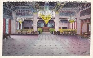 TIJUANA, Mexico, 1900-1910´s; Interior View Of Casino, Gold Bar