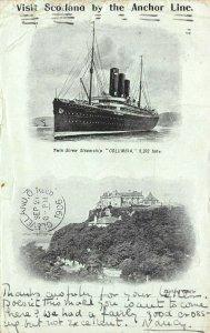 LP50  Ship  Columbia Anchor Line Vintage Postcard