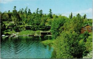 The Rod & Reel Motlong's Canadian Camp Sioux Narrows Ontario ON Postcard D90