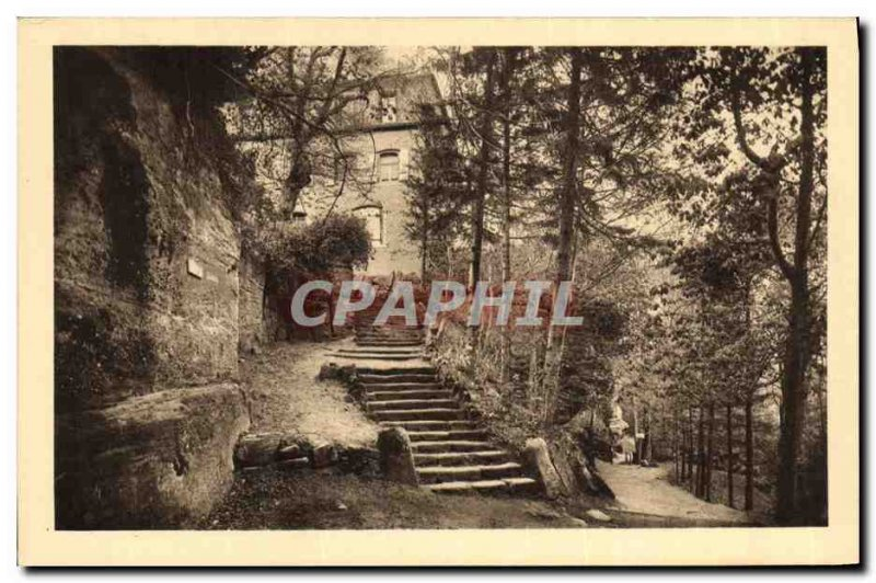 Old Postcard Mont Sainte Odile Convent walkway