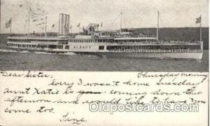 Hudson River Dayline,  Albany, Steamer Ship Ships Postcard Postcards  Hudson ...