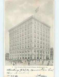 Pre-1907 BUILDING Mckeesport Pennsylvania PA A0613
