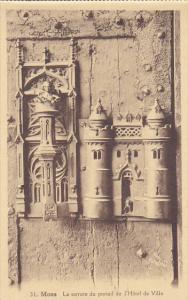 Belgium Mons La serrure du portail de l'Hotel de Ville