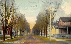 Hartford Michigan~Residence Street~Homes on Both Sides Dirt Road~Porches~c1912