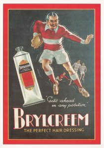 Brylcreem Rugby Poster Advertising Postcard