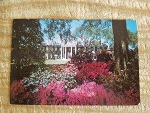 SOUTH FACADE,MAIN HOUSE,HILLWOOD,WASHINGTON DC.VTG USED POSTCARD*P14