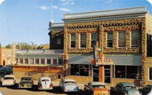 Cody Wyoming~Irma Grill~Art Deco Cafe~Neon Signs~Nice 1950s Cars in Front~PC