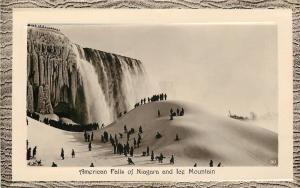Niagara Falls New York~American Falls~Ice Mountain~1907 England GEL~Emboss Frame