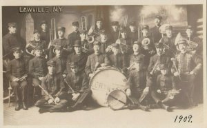 RP; LOWVILLE , New York , 1909 ; Band Portrait