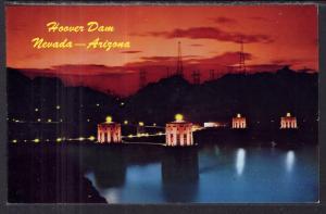 Hoover Dam at Night,Nevada-Arizona