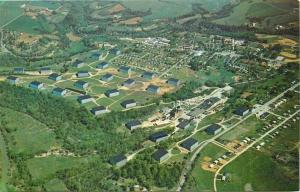 Bardstown Kentucky~Aerial: Barton Distilling Co~Museum of Whiskey History~1950s