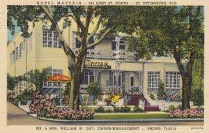 ST. PETERSBURG , Florida , 1930-40s ; Hotel Mayfair