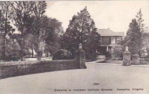 Virginia Hampton Entrance To Hampton Institute Grounds Albertype