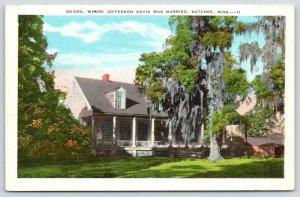 Natchez MS~Briers Where Confederate President Jefferson Davis was Married~1920s