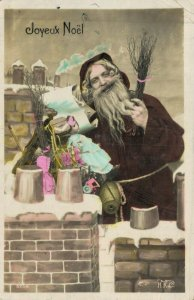Merry Christmas Santa Claus Joyeux Noël RPPC  04.76