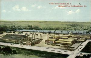 Providence RI Fire Extinguisher Co Factory c1910 Postcard
