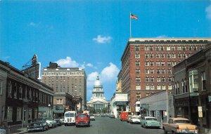 Capitol Avenue Cars Springfield Illinois 1950s postcard