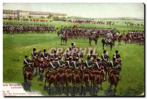 Old Postcard Army Military Map Lancers