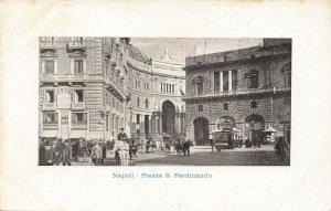 Italy Napoli Piazza S. Ferdinando tram Postcard