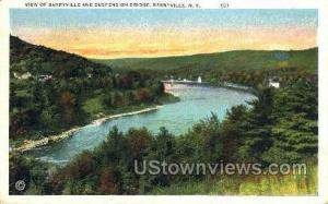 Suspension Bridge Barryville NY Postal Used Unknown