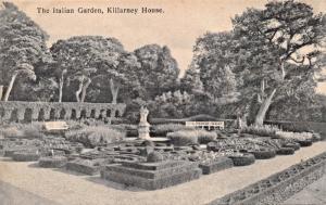 KILLARNEY HOUSE CTY KERRY IRELAND~ITALIAN GARDEN + LOWER TERRACE VIEW-2 POSTCARD