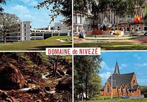 Belgium Spa Domaine de Niveze, Eglise Church Fountain Forest Creek