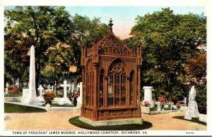 Virginia Richmond Hollywood Cemetery Tomb Of President James Monroe Curteich
